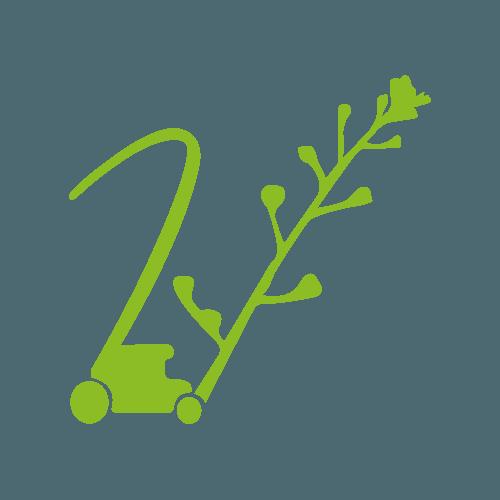 V du logo vert